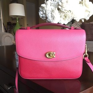 NWT Coach Cassie cherry pink multi color new